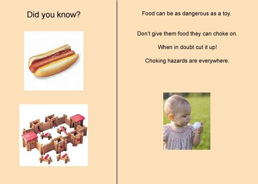 Choking on hot dogs