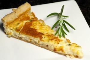 Cheddar cheese herb tart