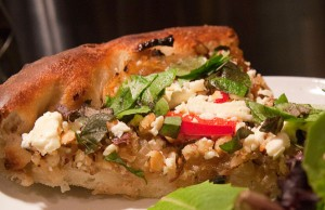 Hazelnut Onion Feta Pizza