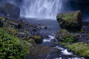 Bottom of View of Upper Falls of Multnomah Falls