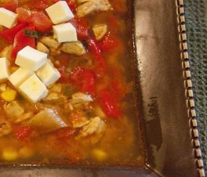 Corn Chipotle Chicken Soup bowl