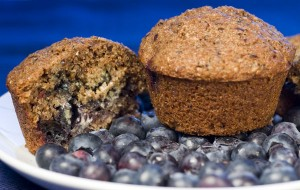 Low Caloire Blueberry Bran Muffin