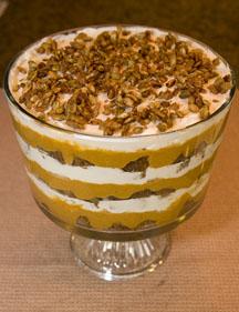 Pumpkin Gingerbread Trifle Thanksgiving Dessert