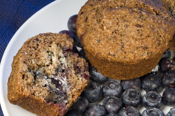 Blueberry bran muffin