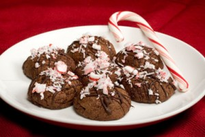 Double Chocolate Peppermint Cookies Bon Appetit
