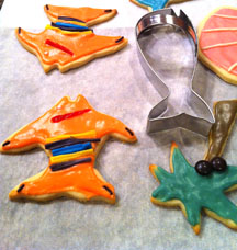 Coastal Sugar Cookie Rainbow Zebra Fish