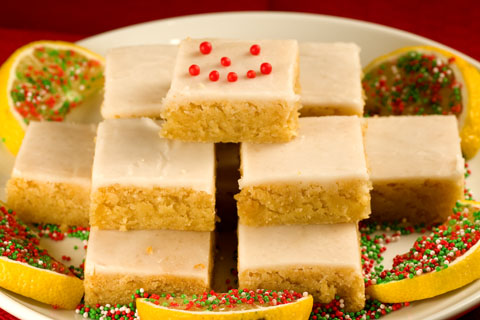 Holiday Lemon Ginger Bars