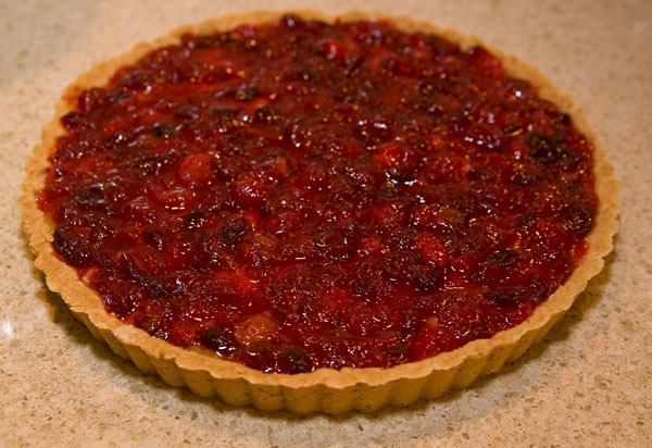 Cranberry Lime Tart with Almond Crust
