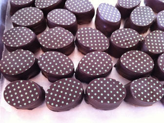 Semi-sweet chocolate with soft mint centers