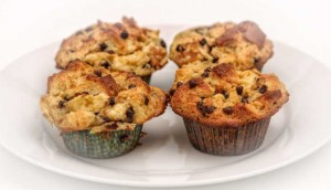 Chocolate Chip Bread Pudding Muffins