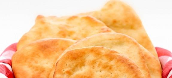 Wonderfully fresh baked golden pita bread