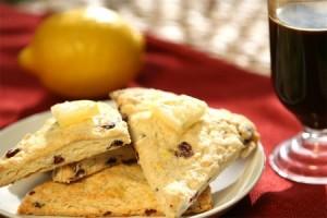 Lemon Cranberry Scone Breakfast