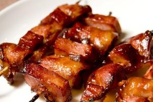 Bacon Ham Kebabs