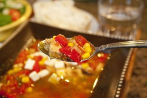 Corn Chipotle Chicken Soup