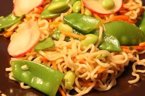 Wasabi Noodle Vegetable Salad