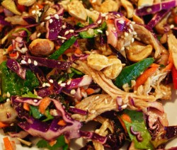 Chicken and Cabbage Salad Asian Style